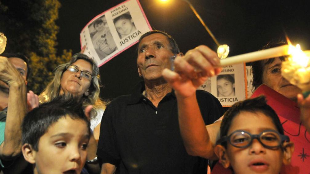 Marcha. En abril, los vecinos de la niña de 11 años Rocío Barletta reclamaron por justicia y más seguridad (José Gabriel Hernández/Archivo).