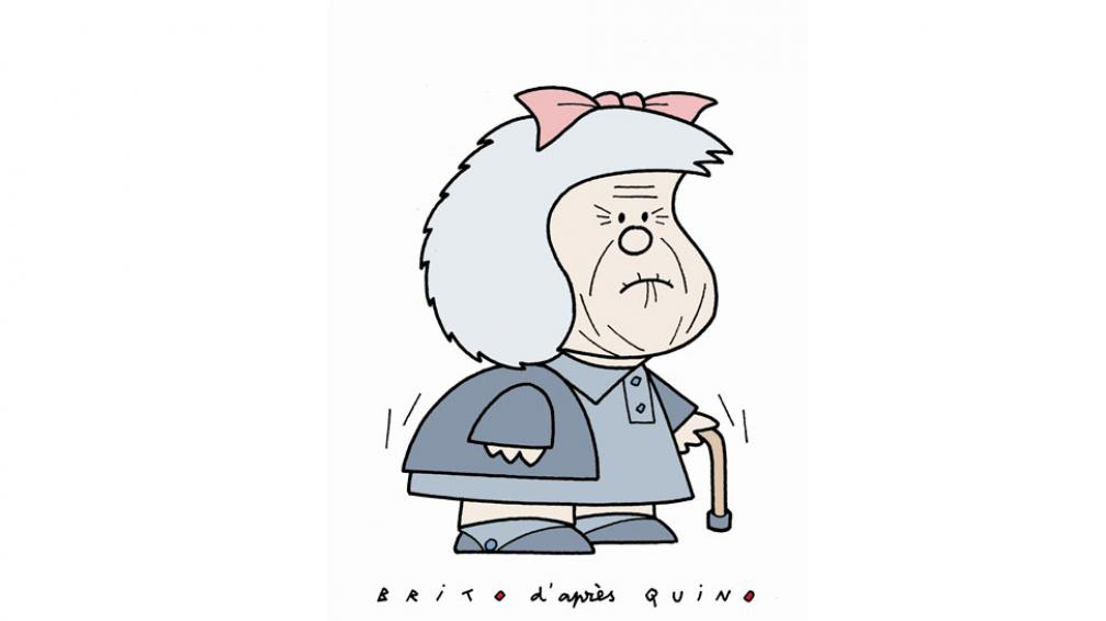 Mafalda, por Carlos Brito. Reside en Francia. En la actualidad, es humorista gráfico de Le Canard enchaîné y Le Monde.