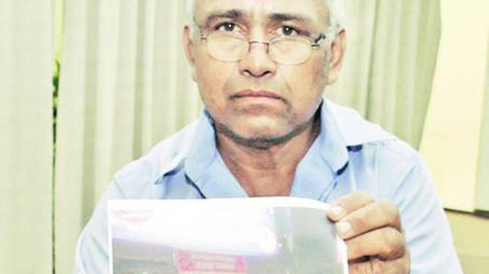 GANADOR SIN PREMIO. Hipólito tomó una foto de la máquina cuando ganó los 3,4 millones de pesos.