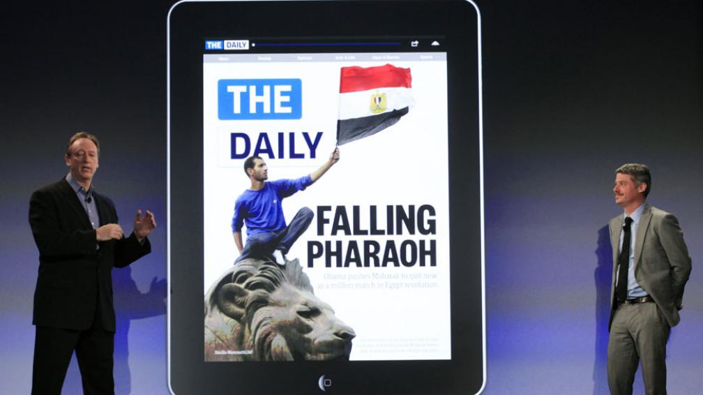 THE DAILY. El periódico al momento de su presentación, tiempo atrás (Archivo /AP).