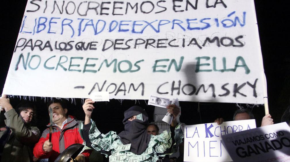 PROTESTA. En Plaza de Mayo (DyN).