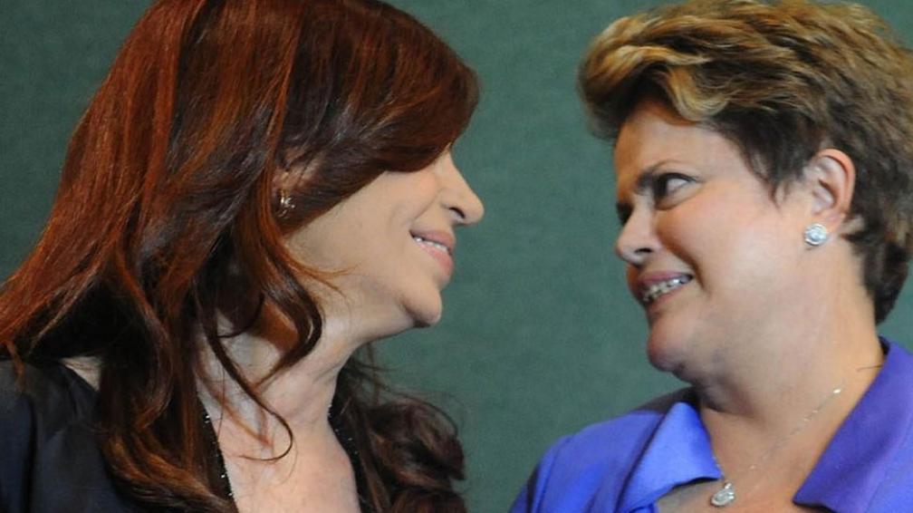 Mano a mano. Cristina y Dilma acordaron posiciones conjuntas. No hubo información oficial sobre si hablaron de la relación bilateral (DyN).