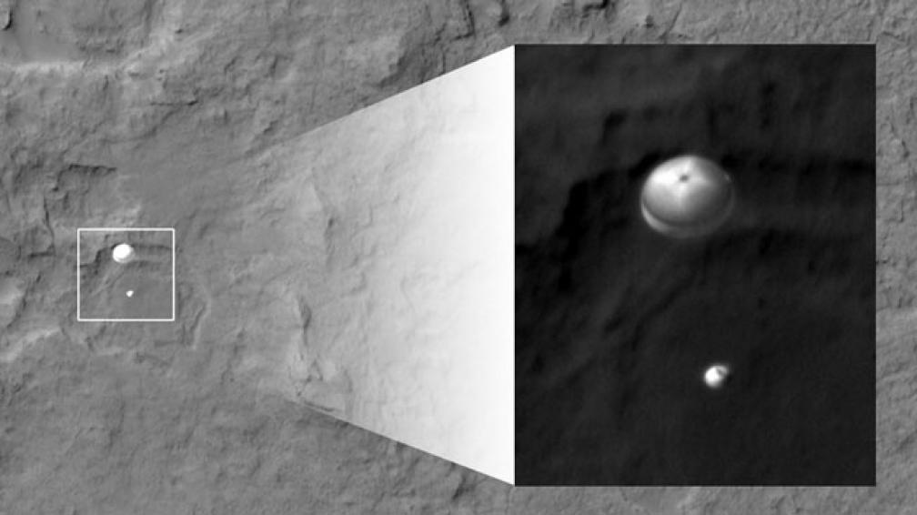 """PRIMERAS IMÁGENES. La Nasa divulgó las primeras """"fotos"""" que envió Curiosity (Nasa)."""