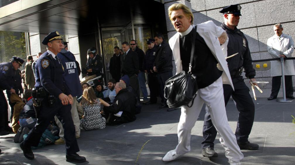 """Indignados """"made in USA"""". Desde hace semanas, el movimiento Ocupemos Wall Street expresa descontento en ciudades de EE.UU. (AP)."""