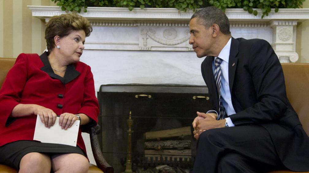 REUNIÓN. Rousseff y Obama dialogaron en la Casa Blanca (AP).