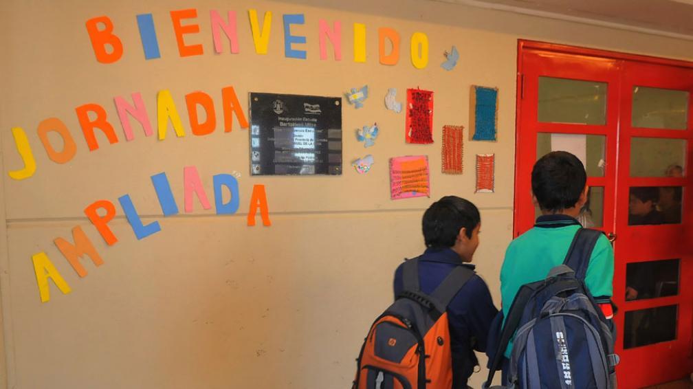 Más horas. La jornada extendida fue bien recibida en la Escuela Mitre, de barrio Residencial Olivos (Raimundo Viñuelas/Archivo).
