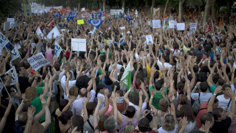 PROTESTAS. En Madrid (AP).