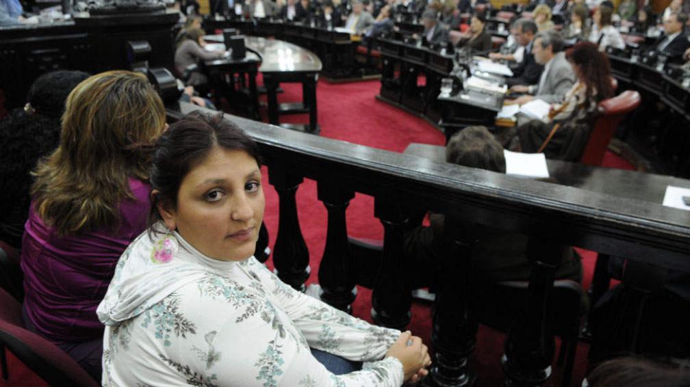 DEBATE. También presenció la sesión la titular de Ammar, Eugenia Aravena (José Hernández/LaVoz).