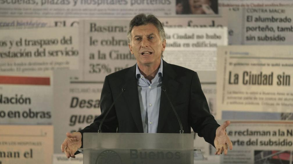MACRI. El jefe de Gobierno porteño volvió a criticar a Cristina Fernández (DYN).