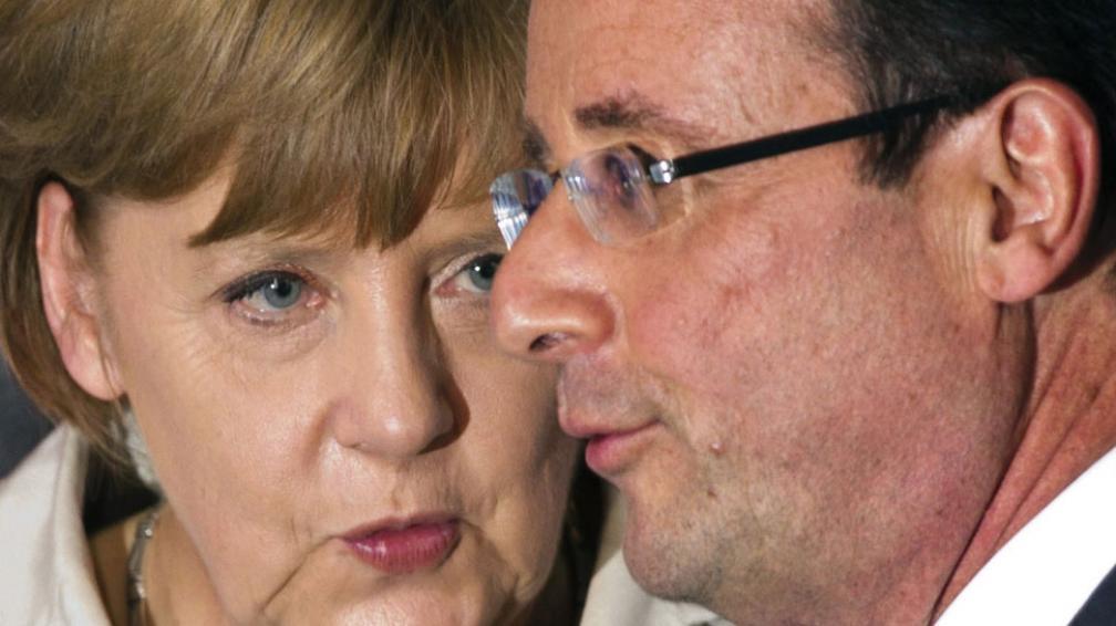 Mensaje. Angela Merkel y François Hollande (AP).