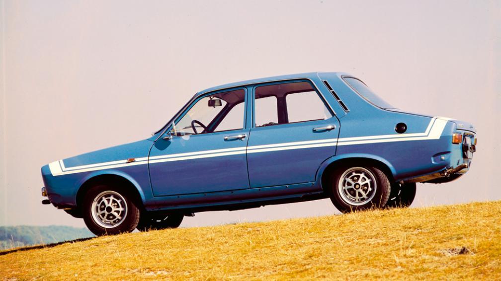 El R12 Gordini tenía una franja blanca en el capó y en el lateral (Gentileza Renault Argentina).