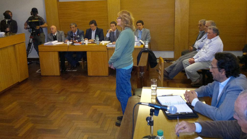 SOFÍA GATICA. Declara en Tribunales II (La Voz/R. Pereyra).