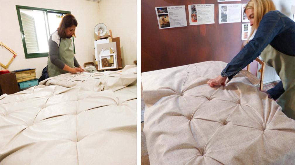 Un taller para aprender tapicer a capiton la voz del - Talleres de tapiceria ...