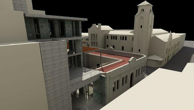 Vista de calle Duarte Quirós. En primer plano, el nuevo edificio.