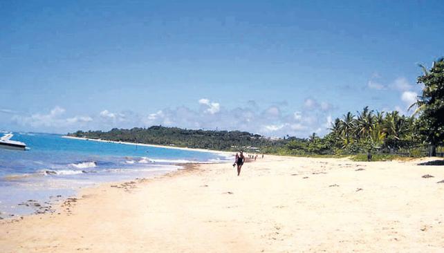 Playa de CoroaVermelha, aldea donde hay un museo aborigen.