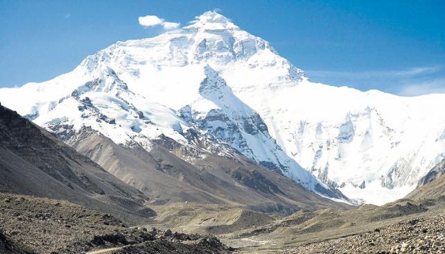 El Everest, el monte más alto del mundo y uno de los que están comprendidos en el itinerario de la carrera.