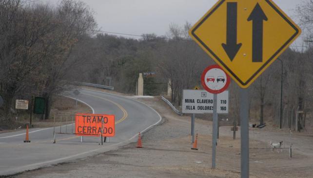 CORTE. En el acceso al camino a las Altas Cumbres (La Voz/Archivo).