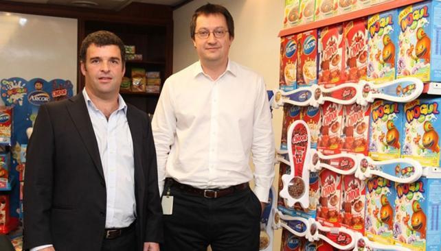 Muestra. Ayer, Andrés Kroyer, director de Bagley, y Claudio Ezcurra, gerente de Marketing, presentaron los nuevos productos (Prensa Arcor).