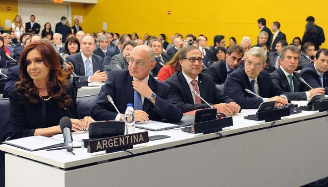 FERNÁNDEZ. Durante el encuentro del Comité de Descolonización de la ONU (DyN).