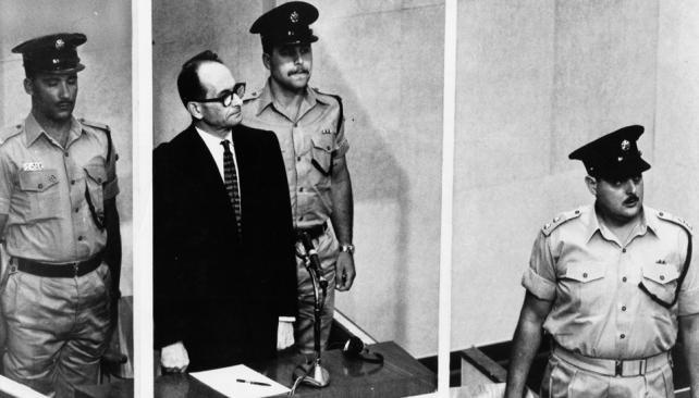 EICHMANN. En el juicio que se inició el 11 de abril de 1961.
