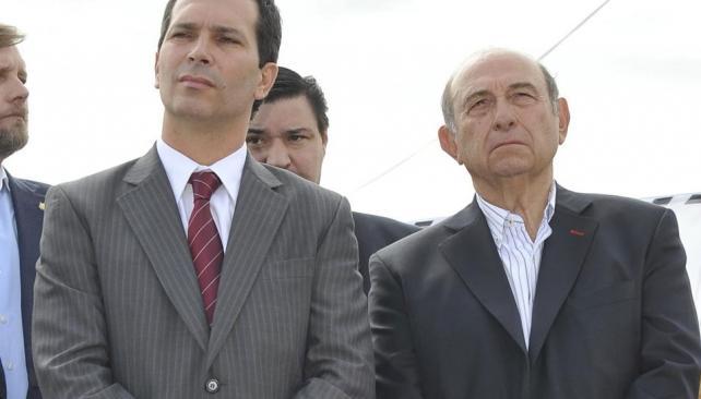 Esquivando el pico.  Vice y ex (Antonio Carrizo/LaVoz).
