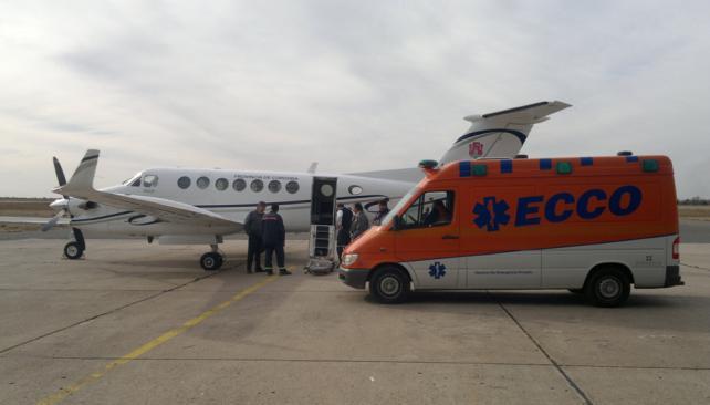CÓRDOBA. La mujer será trasladada al Hospital Aconcagua (Facundo Luque/LaVoz).