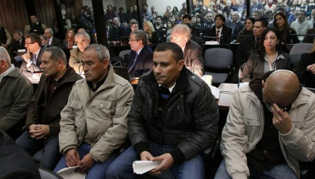 JUICIO. Los acusados en el juicio por la muerte de Mariano Ferreyra (DyN / Archivo).