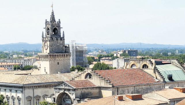 La ciudad, observada desde el techo del Palacio de los Papas.