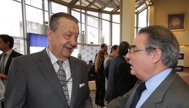 Mercado de capitales. Dos representantes del sector, Horacio Parga, titular de la Bolsa, y Víctor Mondino, presidente de Banco Roela (LaVoz).
