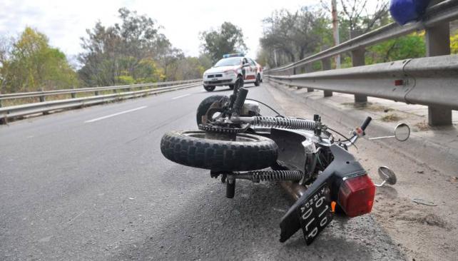 VULNERABLES. La mayoría de los accidentados se conduce en motocicleta (LaVoz/Archivo).