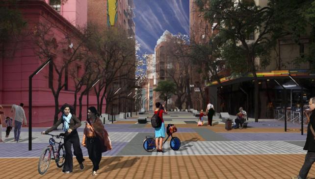 Portal de Güemes. La intención es favorecer el tránsito peatonal.