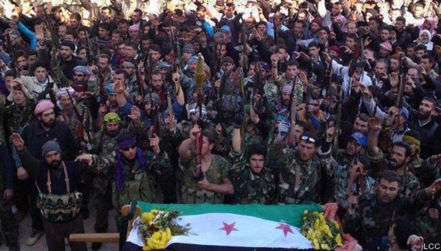 SIRIA. Las fuerzas rebeldes (AP).