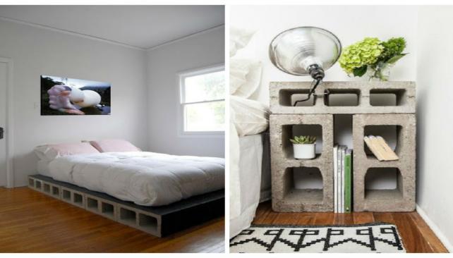 Poca plata decor con bloques de hormig n taringa for Muebles con ladrillos