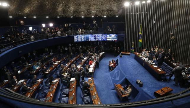 Dilma en la fase final de su dramático juicio de destitución