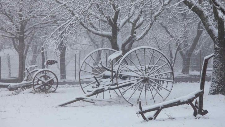 CALAMUCHITA. Imágenes de la nevada, en el lugar de los incendios (Nelson Torres/La Voz).