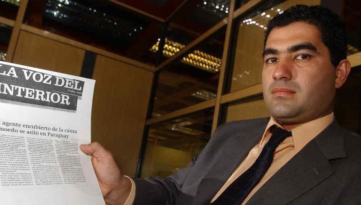 VILLARREAL. Agente encubierto legal de la Policía Federal en 1996. Se fue a Paraguay y luego a Brasil (La Voz/Archivo).