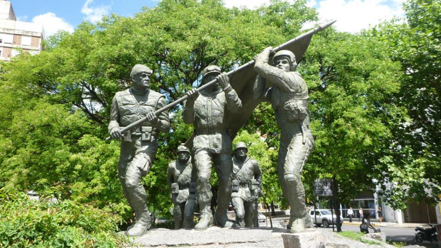 PLAZA DE LA INTENDENCIA. La Ciudad recuerda a los soldados de Malvinas.